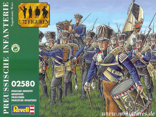 Prussian Napoleonic Infantry, 1813–1815, 1:72 Miniatures Revell 02580