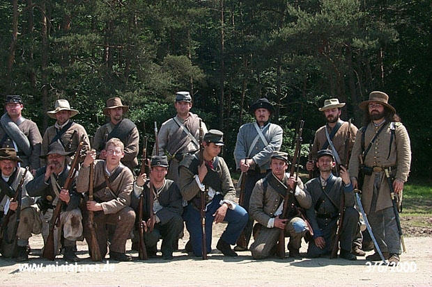 7th Georgia Cavalry at attention, left flank