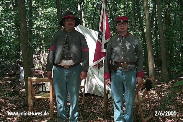 Officer and Sergeant of the Confederate Lynchburg Artillery