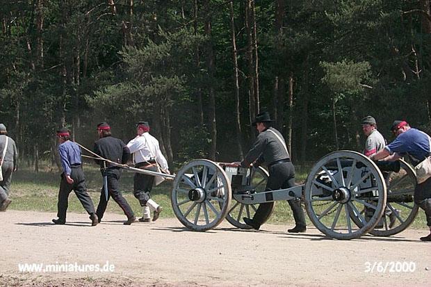 Artiglieria Confederata di Washington being manhandled