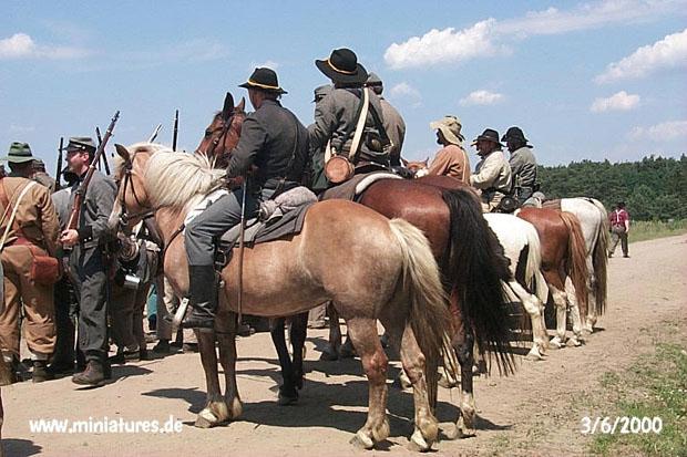 Cavalleria confederata rear view