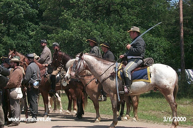 Confederate cavalry with drawn sabres