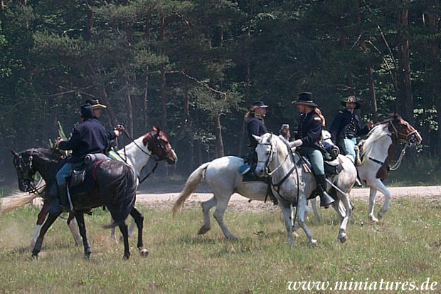 2. US Cavalry officers and troopers