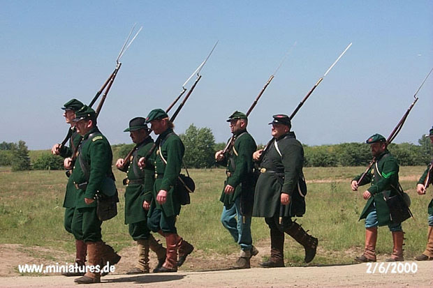 US Sharpshooters marchando
