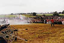 Firefight at the Reenactment of the Battle of Waterloo, 1995