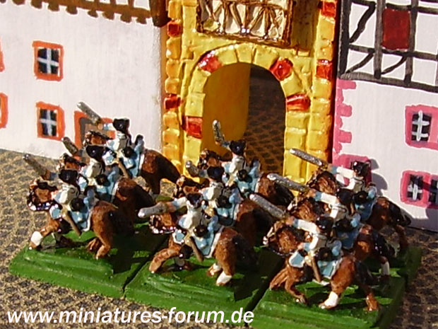 Cavalry Squadron of the Upper Rhenish Circle during the Seven Years' War, 1756–1763, 1:300 Miniatures Heroics & Ros