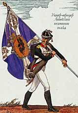 Infantería Rusa Napoleónica del Regimiento Libava, 1812