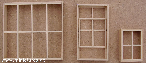 Sash windows for Old West buildings in dioramas e wargames