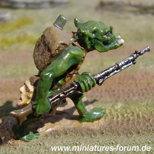 Orc with MG 34 light machine gun