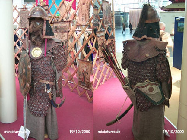 Mongolian scale armour of reinforced leather