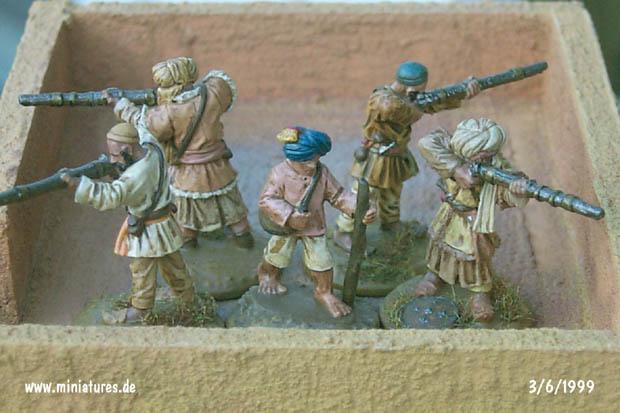 Pashtunes, 1839–1902, 25 mm Figuras Ral Partha 88-111