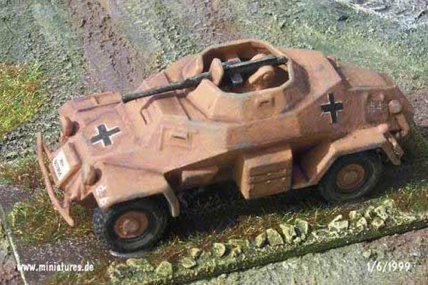 Vehículo Blindado Ligero Alemán Sd.Kfz. 222, 1:76 Maqueta Airfix
