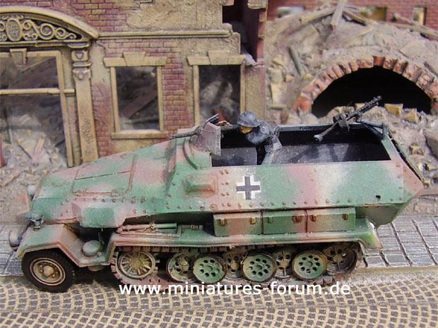 Vehículo Semioruga Acorazado Alemán Sd.Kfz. 251/1 Ausf. C, 1:72 Maqueta ESCI 8359