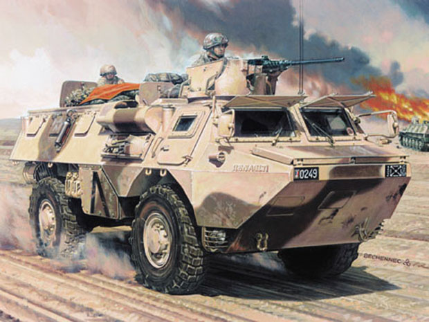 French Renault Saviem VAB 4×4 Armoured Personnel Carrier, 1:72 Model Kit Heller