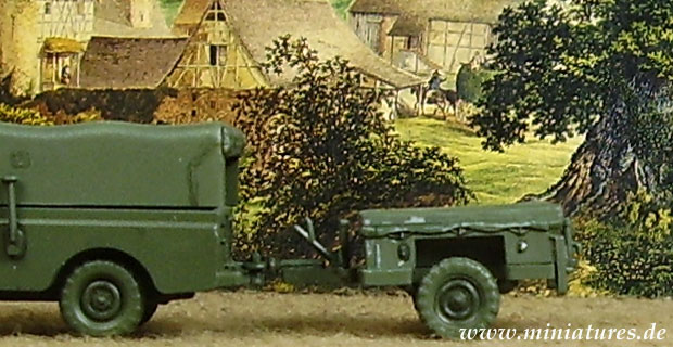 British F.V. 2361, Trailer Cargo 0.75 t, 1:76 Model Kit JB Models JB1001