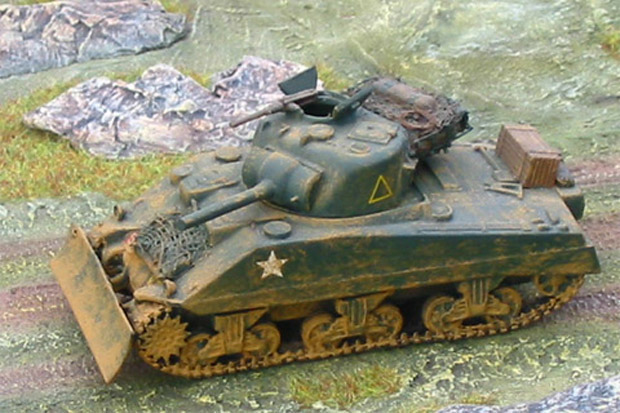 Sherman Mk.V tank of 1st (Armoured) Battalion Coldstream Guards, 1:76 Model Kit Matchbox 40071
