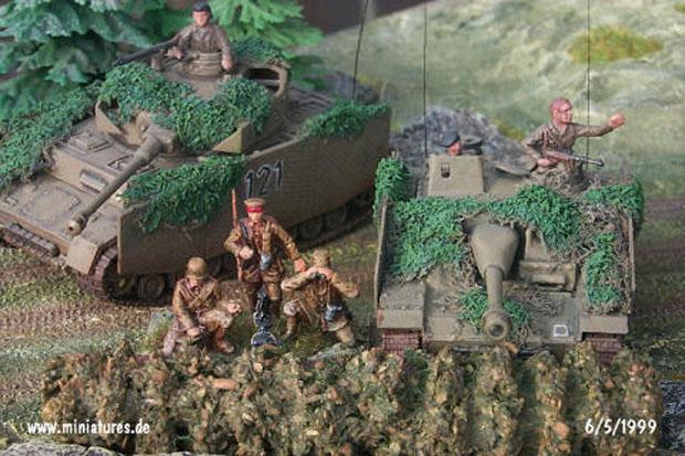 Panzer IV Ausf. H Rumano y Sturmhaubitze 42, 1:76 Maqueta Fujimi 76012