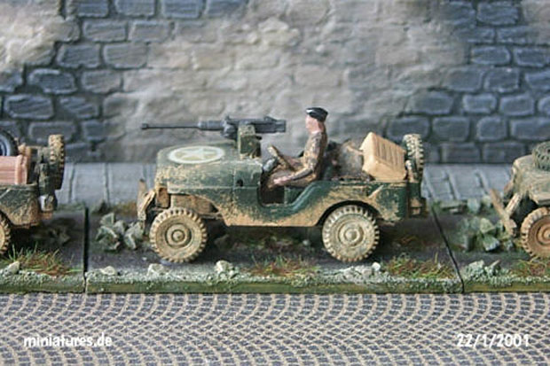 Willys Jeep, M38 A1, converted to British Commando Jeep with 0.50 cal. machine gun