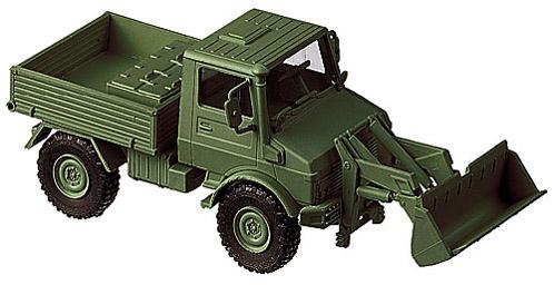 Unimog U 1400 Frontlader, 1:87 Modellismo Roco 669