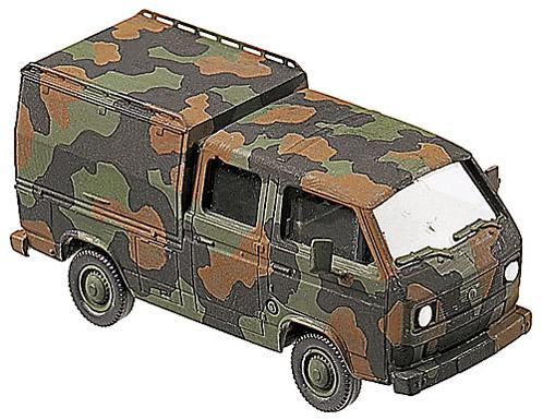 VW T3 DK mit Sonderaufbau (BW-Feuerwehr), camouflaged, 1:87 Modellismo Roco 863