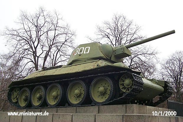 T-34 turret number 300 seen from the right