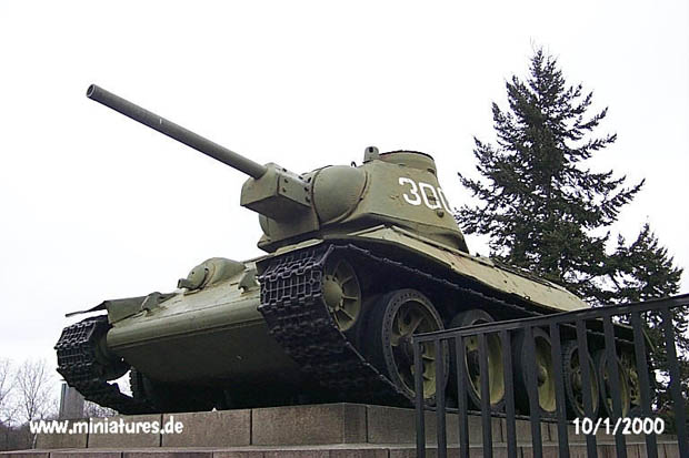 T-34 turret number 300 seen from the left