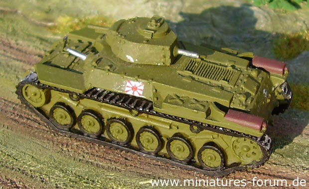 Japanese Chi-Ha (Type 97) Medium Tank, 1:87 H0 Model World Tanks Depot 17