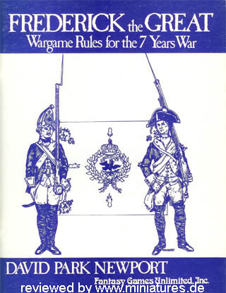 Frederick the Great – Wargame Rules for the 7 Years War, by David Park Newport