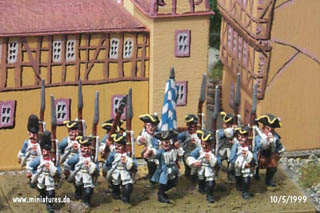 Reggimento fanteria bavarese di Kurprinz based on a 76 × 38 mm regimental stand for Volley & Bayonet