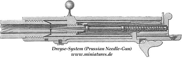 Lock of the Dreyse needle-gun (plate I, fig. 1)