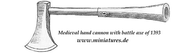 Medieval hand cannon with battle axe dated 1393