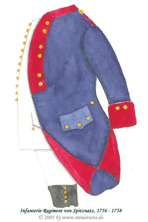 Wuerttemberg Infantry Regiment von Spitznatz of the Seven Years' War, 1756–1763