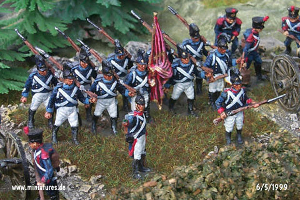 Wurtemberg 5th Infantry Regiment, 1:76 Figuras Airfix 01737